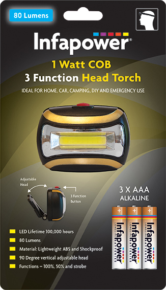 Infapower F045 1 Watt COB Head Torch