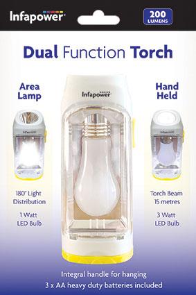 F050 InfaPower 3 in 1 3 Watt COB Retractable Inspection Emergency lamp Torch inc 4X AAA Batteries